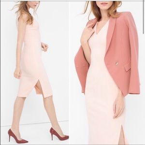 White House Black Market Light Pink Sheath Dress